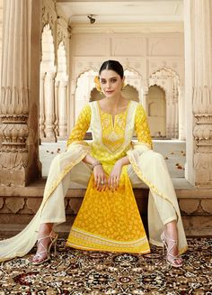 Being a reputed manufacturer and Supplier in the clothing production, we are offering the best quality Floral Designer semi stitch salwar kameez for women. The offered suit is designed by our highly skilled experts by magnificent latest manufacture techniques and fine stitching methods, which make its unyielding against tear. Salwar Kameez, Stitching, Floral Design, Sari, Suits, Collections, Clothing, How To Make, Women