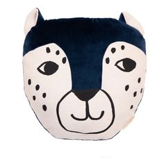 Leopard Cushion Nobodinoz Baby Children- A large selection of Design on Smallable, the Family Concept Store - More than 600 brands. Baby Design, Home Design, Little Boy Bedroom Ideas, Palette, Cushions, Pillows, Midnight Blue, Little Boys, Cosy