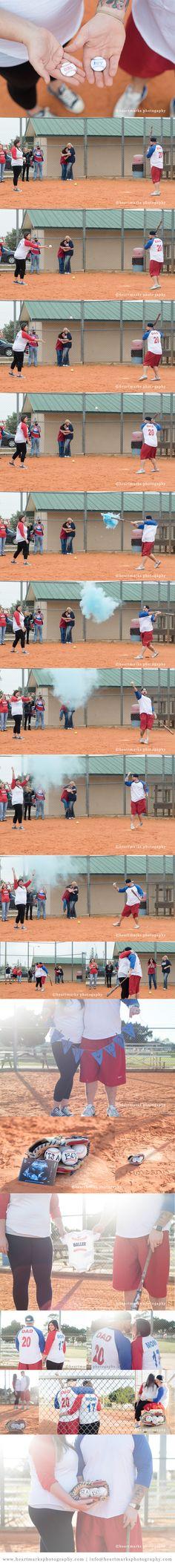 Gender Reveal Baseball Maternity Photography Session | HeartMarks Photography | www.heartmarksphotography.com