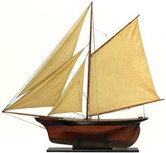 Model cutter yacht – Maquette anglaise de fabrication professionnelle « dockyard model » circa 1880.