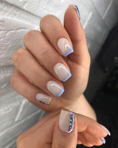 Cute Nails, My Nails, Sharp Nails, Pretty Nail Art, Perfect Nails, Summer Nails, Nail Art Designs, Hair Beauty, Glitter