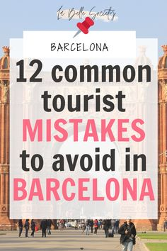 If you're going to Barcelona, then hyou mustknow about these unfortunately common tourist mistakes. I myself am guilty of making quite a few of these mistakes when I visited Barcelona. From where to eat to how to best see the city attractions Barcelona Tourist, Barcelona Spain Travel, Visit Barcelona, European Destination, European Travel, Barceloneta Beach, Cordoba Spain, Cadiz, Cool Places To Visit