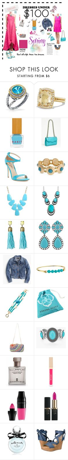 """Styling my tjmaxx finds"" by deborah-518 ❤ liked on Polyvore featuring Bling Jewelry, David Yurman, Habit Cosmetics, Rebecca Minkoff, Via Spiga, Kendra Scott, Le Vieux, SUGARFIX by BaubleBar, J.Crew and Lauren Ralph Lauren"