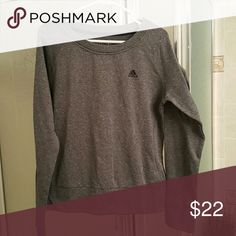 NWOT Adidas crew neck sweatshirt New without tags. Adidas crew neck sweatshirt. Gray. Adidas Tops Sweatshirts & Hoodies