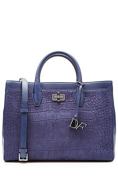 Slick+and+structured,+this+violet-toned+blue+embossed+leather+tote+from+Diane+von+Furstenberg+is+a+polished+choice+that+you+can+take+from+office+to+evening+dates+#Stylebop