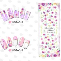 $1.19 1Sheet Sweet Night View Oil Painting Stamped Pattern Nail Art Water Decals Transfers Sticker - BornPrettyStore.com