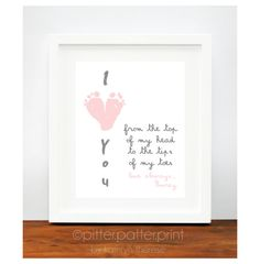 Mother's Day Gift for Grandma  I Love You by PitterPatterPrint, $30.00