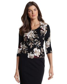 Floral print cardigan from White House Black Market. It s so much prettier  in person! 6944f5f58