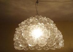 Soda Bottle Bottom Chandelier