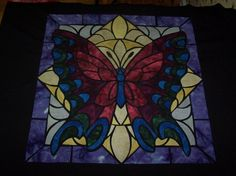 Stained Glass Butterfly Quilt by Angela