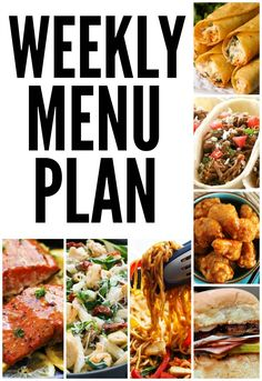 A Weekly Menu Plan from your favorite bloggers! These meals are amazing!