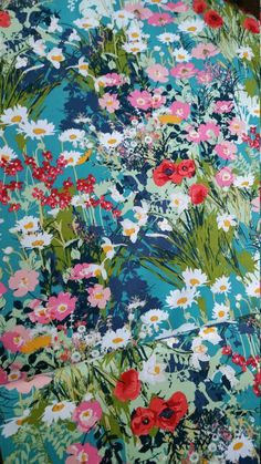 FABRIC by the yard, Yard, Mother's Garden Rich, Lavish Collection by Katarina Roccella for Art G Episode Backgrounds, Art Gallery Fabrics, Paintings I Love, Ditsy Floral, Disney Art, Textile Design, Collage Art, Flower Art, Flower Patterns