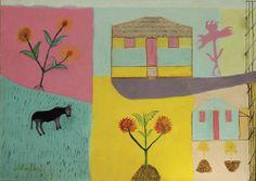 Neves Torres nasceu em 1932, na cidade de Conselheiro Pena – MG. Um dia comentou com seu filho que tinha vontade de pintar tela. Seu filho se propôs a ensiná-lo, e depois de pintar dois quadros com seu filho, começou a pintar sozinho, em 2007. E desde o início mostrou uma maneira muito pessoal de pintar. Saiba mais: http://www.galeriaestacao.com.br/artista/59