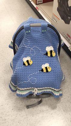 Easy Beginner Crochet Baby Blanket - Crochet Ideas Basic Car Seat Tent By Maria Vazquez – Free Crochet Pattern – (ravelry) Crochet Baby Blanket Beginner, Crochet Blanket Patterns, Baby Patterns, Baby Knitting, Beginner Crochet, Crochet Blankets, Afghan Patterns, Crochet Bebe, Crochet For Kids