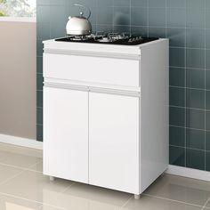 Olha só este #balcão #compacto para cooktop que ajuda com a #decoração e com a #organização da #cozinha!  #Prod139093