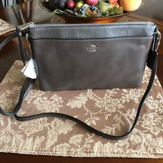 New Coach Brown Mink leather Crossbody. Brand new Coach Bags Crossbody Bags Small Crossbody Purse, Leather Crossbody, Crossbody Bags, Luxury Handbags, Mink, Salvatore Ferragamo, Coach Bags, Brown Leather, Hardware