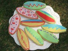 surfboard cookies