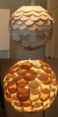 Recycle old books into a nifty lamp cover!