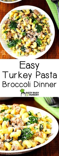 Easy Ground Turkey Broccoli Pasta Dinner - Recipes to try - Looking for a quick, healthy, and delicious weeknight meal? This ground turkey pasta broccoli dish is a super-easy, family-pleasing dinner ready in less than 30 minutes! Ground Turkey Pasta, Ground Turkey Tacos, Healthy Ground Turkey, Ground Turkey Recipes, Broccoli Dishes, Broccoli Pasta, Broccoli Recipes, Healthy Weeknight Meals, Easy Healthy Recipes