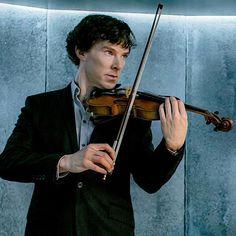 Melancholy violin magic with Sherlock