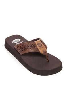 6dfa6802a Yellow Box Women s Tranquil Platform Flip Flop Sandalss - Brown - 8.5M