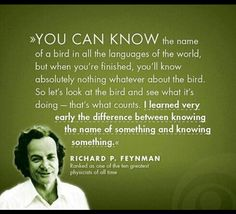 """To really know something..."" Love this Richard #Feynman quote"