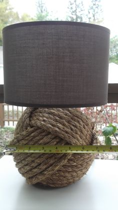 Nautical Decor  One knotty lamp  without a by KarensWeddingShop, $75.00