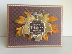handmade thanksgiving cards | Found on stampinconnection.com