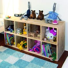 Ideal for a children's bedroom, this freestanding storage unit is designed to be easy to access for storing toys or books. There is even enough space to add ...