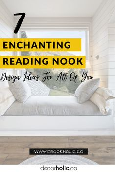 To celebrate National Literacy Day, designing a reading nook in your home can be a fun project. Today is a great day to make your old nook more enchanting. Whether you want to build an architectural nook to crawl into, or even you just want an awkward corner, a reading nook design is just some tips away. #decorholic #readingnook #designidea #homedecor