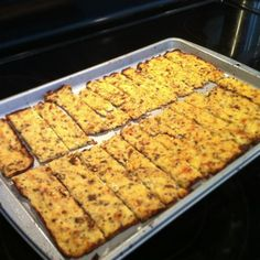 """Cauliflower """"Bread"""" sticks awesome alternative to bread and perfect for Gluten intolerant or Paleo people"""