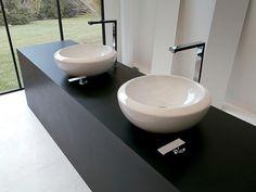 #Artceram #blend #washbasin Bathroom Furniture, Small Bathroom, Toilet, Sink, Shower, Interior Design, House, Apartment Ideas, Mirror
