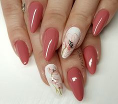Lovely collection of heart nail designs – 70 pictures - Our Nail Heart Nail Designs, Colorful Nail Designs, Acrylic Nail Designs, Nail Art Designs, Acrylic Nails, Winter Nails, Spring Nails, Cute Nails, Pretty Nails