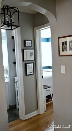 Decorating a small hallway hallway ideas, hallway wall colors, hallway colour schemes, hallway Hallway Wall Colors, Hallway Colour Schemes, Entryway Paint Colors, Hallway Wall Decor, Hallway Walls, Upstairs Hallway, Hallway Lighting, Dark Hallway, Hallway Decorations