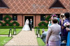 Here comes the bride at The Dairy Waddesdon