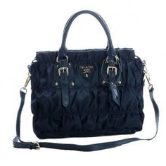 €148.00 Outle Prada Gaufre Fabric Top Handle Bag Bn1336 Royalblue In Singapore