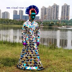 Mixedcolor mirror suit made by high quality and colorful acrylice mirror Triangular Prism, Mirror Man, Street Performance, Dressing Mirror, Costumes For Sale, Disco Ball, Showgirls, Color Mixing, Dancer