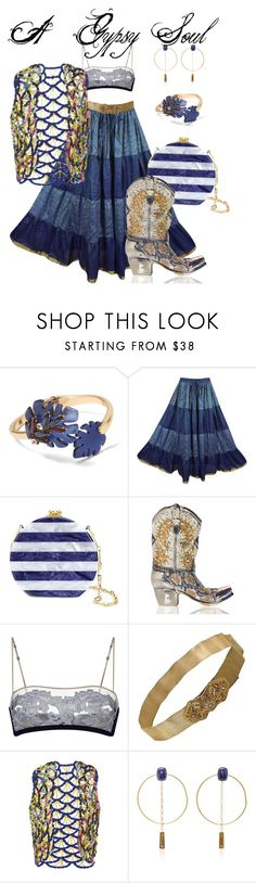 """""""A Gypsy Soul"""" by ranaharake ❤ liked on Polyvore featuring Banana Republic, Edie Parker, Judith Leiber, La Perla, Leal Daccarett and Isabel Marant"""