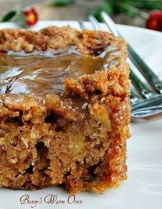 Mom's Best Apple Cake (Very moist and easy to make.  Add walnuts and it's even better.  I adjusted flour to GF.  The topping is too sweet for me.  Next time I will make it without or with a simple powdered sugar drizzle. Oct 2015)