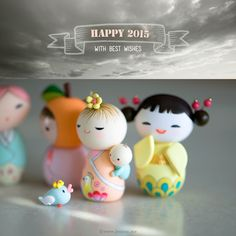 Kokeshi Dolls : joojoo: polymer clay