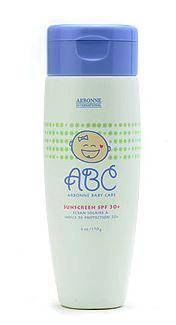 Arbonne Baby Care Sunscreen SPF 30+ Formulated with SPF 30+, this lotion provides maximum protection for sensitive skin, when applied liberally and often.