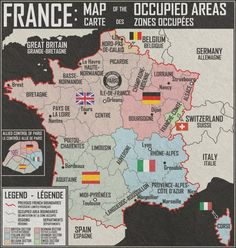 What if after the WWII France was occupied like Germany was occupied (in real history). The Aftermath by ~Martin23230 on deviantART