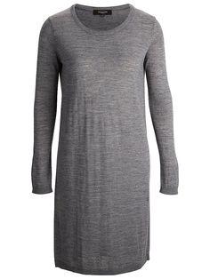 Selected Femme - Regular fit - 50 % Acryl, 50 % Wolle - Runder Kragen - Gerippte Kanten - Melange-Farbeffekt - Leichte Strick-Qualität Dieses zarte Strick-Kleid ist der perfekte Lagen-Artikel. Trage es über ein Hemd und kombiniere dazu Brogues für einen klassischen Look. 50% Wolle, 50% Acryl...