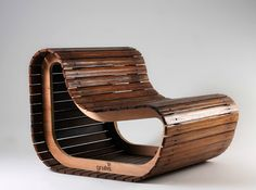 DIY wood chair or bench. I could actually make this happen fairly easily with the CNC