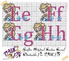 Cross Stitch Designs, Cross Stitch Patterns, Frozen Cross Stitch, Plastic Canvas Letters, Cross Stitch Alphabet, Diagram, Bullet Journal, The Originals, Crafts