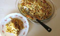 Gratin de pâtes, poulet et sauce korma : Diet & Délices - Recettes dietétiques