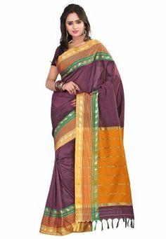 Fabdeal Indian Designer Cotton Purple Plain Saree Fabdeal, http://www.amazon.de/dp/B00INWMA8C/ref=cm_sw_r_pi_dp_hg7otb0Z3G7NN