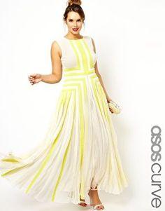 ASOS CURVE Salon Maxi Dress With Applique - Love the color!