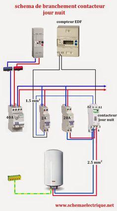 - schéma electrique contacteur jour nuit - branchement d'un contacteur jour nuit - comment ins...