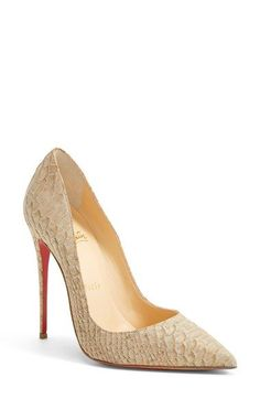 Christian Louboutin 'So Kate' Pointy Toe Pump (Women)(Nordstrom Exclusive Color) available at #Nordstrom